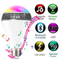 7W RGB colorful smart lighting wifi led bulb night light , E27 Wireless APP Bluetooth 4.0 Speaker Smart color changing led lamp