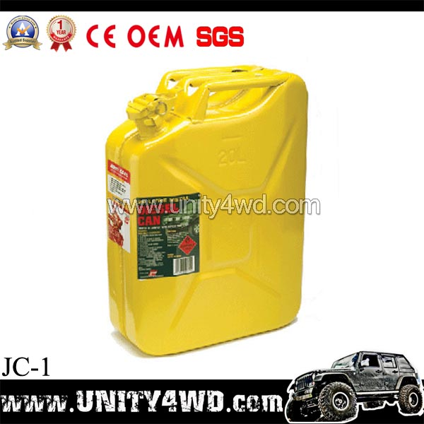 customized model China 4x4 accessories 20L Iron tank gas jerry cans/canister / tanica