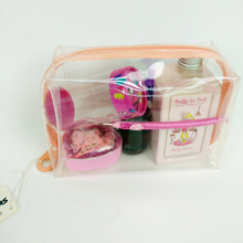 Pink EVA Cosmetic Bag For Ladies Hand Purse PVC Makeup Travel Waterproof Wash Bag Beauty Pouch