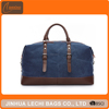 Big Capacity Waterproof Canvas Travel Bag With Leather trim For Mens
