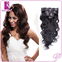 AAAA Long Lasting Indian Virgin Remy Keratin Human Clip in Hair Extension 4 Pieces