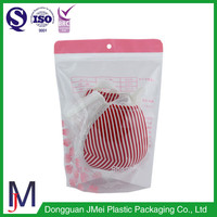 custom imprinted bags for bra and underwear stand up resealable pouches plastic zip bag