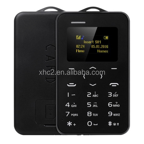 online shopping india 4.8mm Ultra Thin AEKU C6 Pocket Mini Slim Card Mobile Phone with 0.96 inch, QWERTY Keyboard, BT, etc.