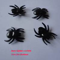 halloween plastic black spiders
