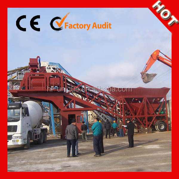 China supplier 75m3/h moving ready mix concrete plant for sale