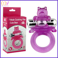 2014 new product wajoy sex products 7 Model Cockring Vibe - Cute Bear Sex Products