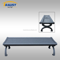 Outdoor used Backless Metal park bench/aluminum garden bench