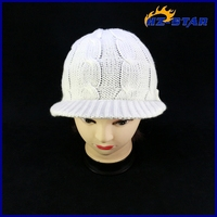 HZM-13219004 2015 high quality fashion lovely simple hat and scarf knitting patterns