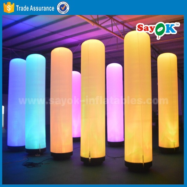 wedding decoration led pillar inflatable lighting tower with printing