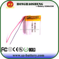 Factory price lipo 3.7v 170mah li-ion rechargeable battery lp302530