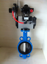 GGG50 wafer end type Pneuamtic Butterfly Valve DN250