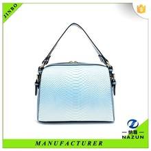 2016 new trendy blue messenger mini leather lady bag