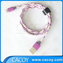 100cm Foil shielding Universal Round USB Quick Charge Cable Data Cable For Devices For iphone 6 iPhone ios 8 iPad iPod