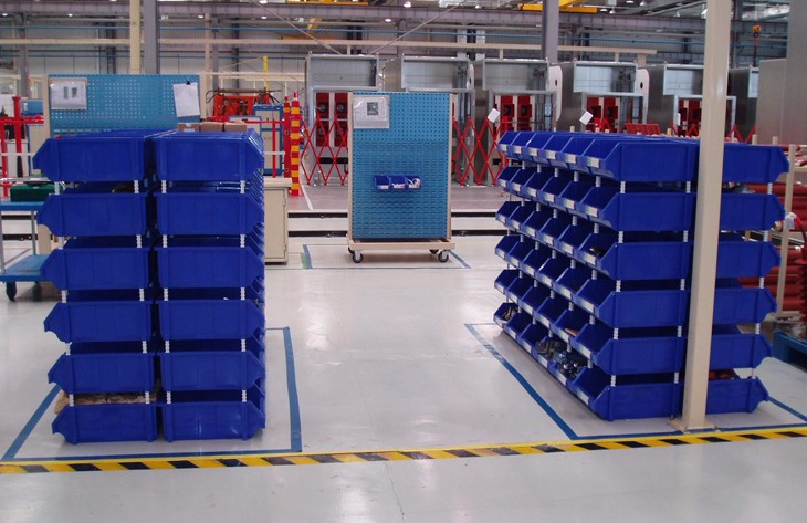 Quality Stackable plastic Storage Bins&Utility Stacking Bin for warehouse parts storage