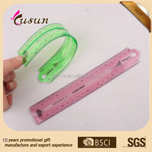 Soft PVC 8 inch 20CM custom flexible plastic ruler in wenzhou