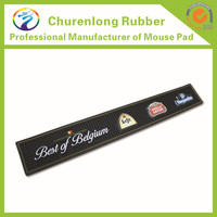 Portable use 3D changing Custom eco-friendly rubber soft pvc bar beer drip mat with logos