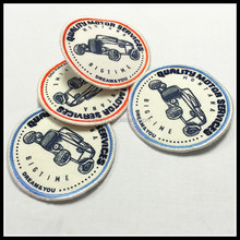 Car Pattern colorful merrowed Embroidery Patch /Embroidered Badge Logo for garment/clothing