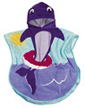 Shark kids hooded beach towel, printed velvet cotton children hooded beach towel, 1- 6 years old