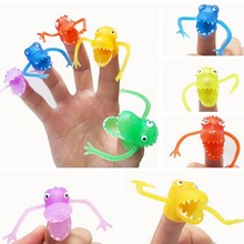 10Pcs Novel Puppets Toys Plastic Finger Puppet Story Mini Dinosaur Toys With Small Finger Gashapon Toys