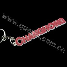 Pink Cheap Letters PVC Keychain