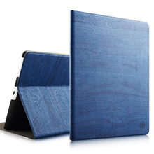 Modern Vintage Book Style Drop Rresistance Anti-slip tree texture Pu leather magnetic tablet cover for ipad 234