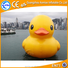 Yellow inflatable duck, giant inflatable promotion duck, inflatable swim duck