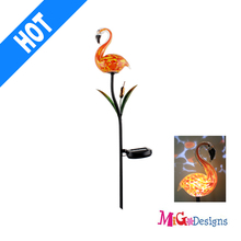 Be Green Solor Lantern Glass Flamigo Newest Lovely Solar Garden Lights Stake Products - MG110166252