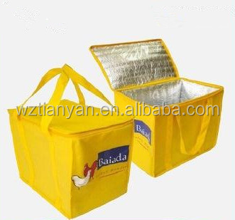cool bag for food with logo printing clear shopping bag in China