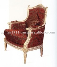 wooden carved king chair