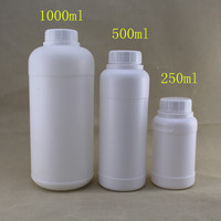 Screw tamper ring cap plastic HDPE bottles with 250ml 500ml 1000ml