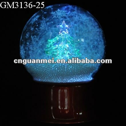 music box with color changing led light for christmas decoration