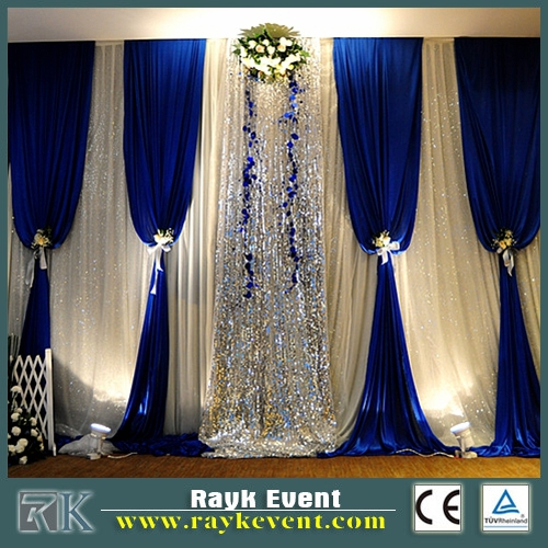 Adjustable event pipe drape | flight case for pipe and drape
