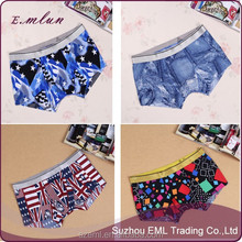 Wholesale Cheap Mixed Design Mens Nylon Seamless Boxer Shorts