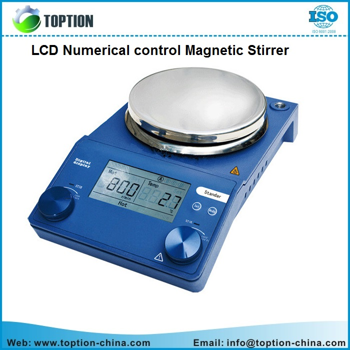 LCD Numeral Control Magnetic Stirrer for chemical synthesis mixing