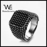 New Jewelry Titanium Steel Small Dots Men Punk Ring