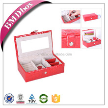 Wholesale leather jewellery box concealed hinge