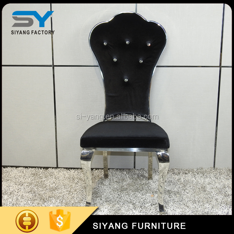 Modren dining room chair furniture new design dining chair black fabric chairs CY023