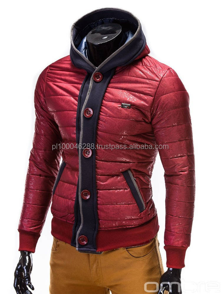 Fashionable sport spring winter autumn mens jacket with hood 2015 OMBRE designed in EUROPE italian style very fashionable