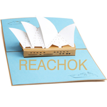 Sydney Opera House Pop up card,Australia Landmark 3D greeting card,great AU souvenir