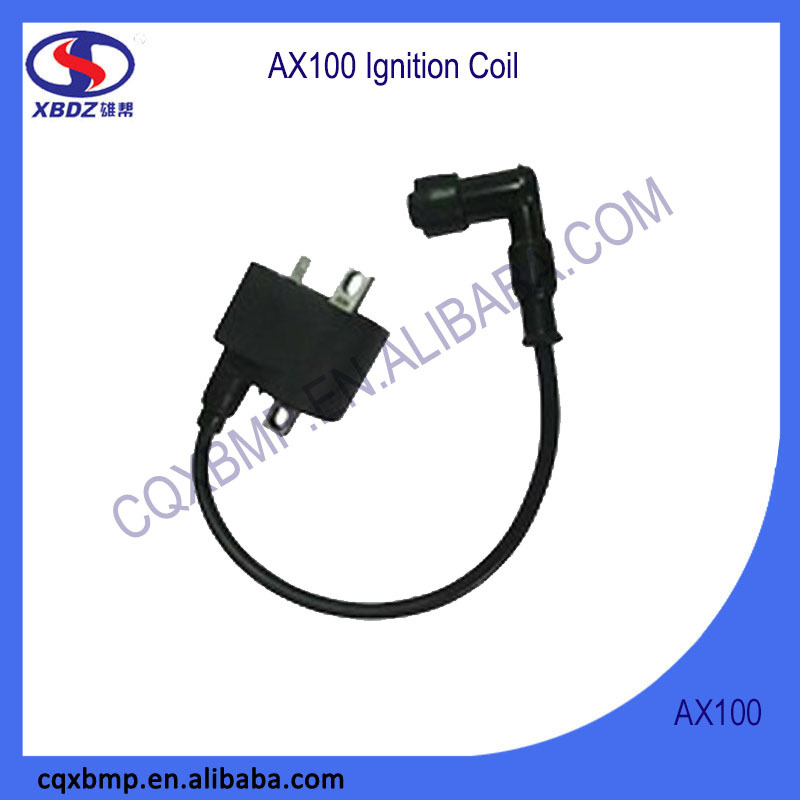 Spare Parts AX100 Motorcycle CDI Ignition Coil With Spark Plug