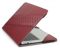 PU Leather Book Cover Clip On Case for MacBook Pro/Air 11,13,15 Retina 12