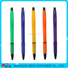 low price cute manufacturer plastic soft grip click executive ball pen