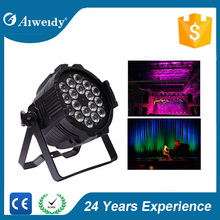 18*18w stage rgbawv 6-in-1 waterproof led par zoom light
