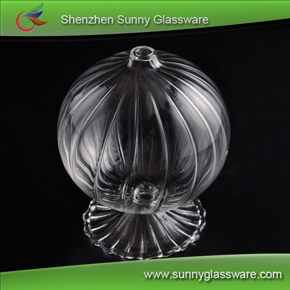 Luxury decorative oil lamp glass oil lamp