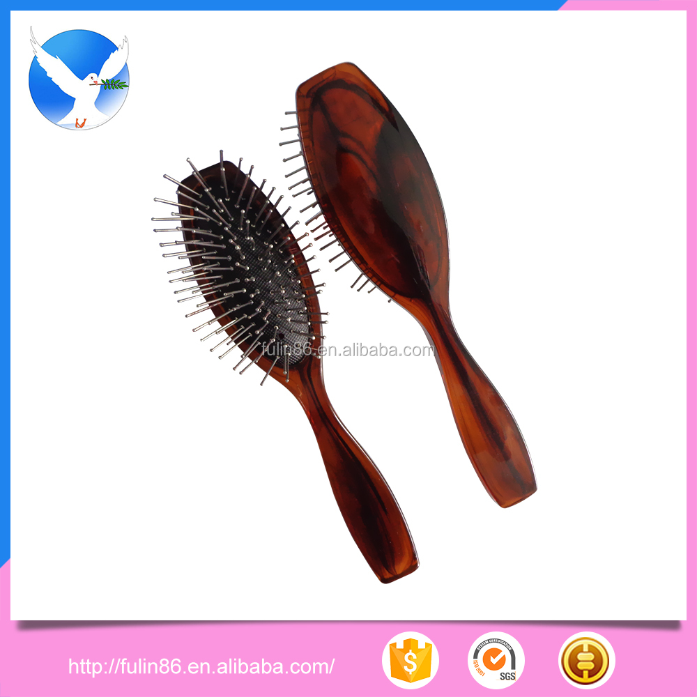 stainless steel hair comb, Chinese ink and wash hair brush double color comb with stainless steel tooth