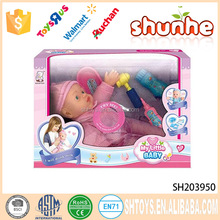 Lovely 12 inch mini silicone toy 10 sound doll for child