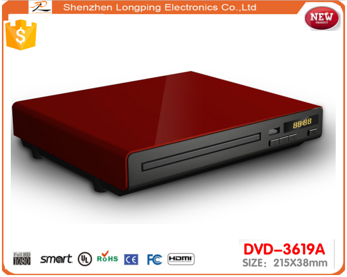 NEW Grade A Compact Multi Region Free 1 2 3 4 5 0 UK DVD Player with shining case and USB slot