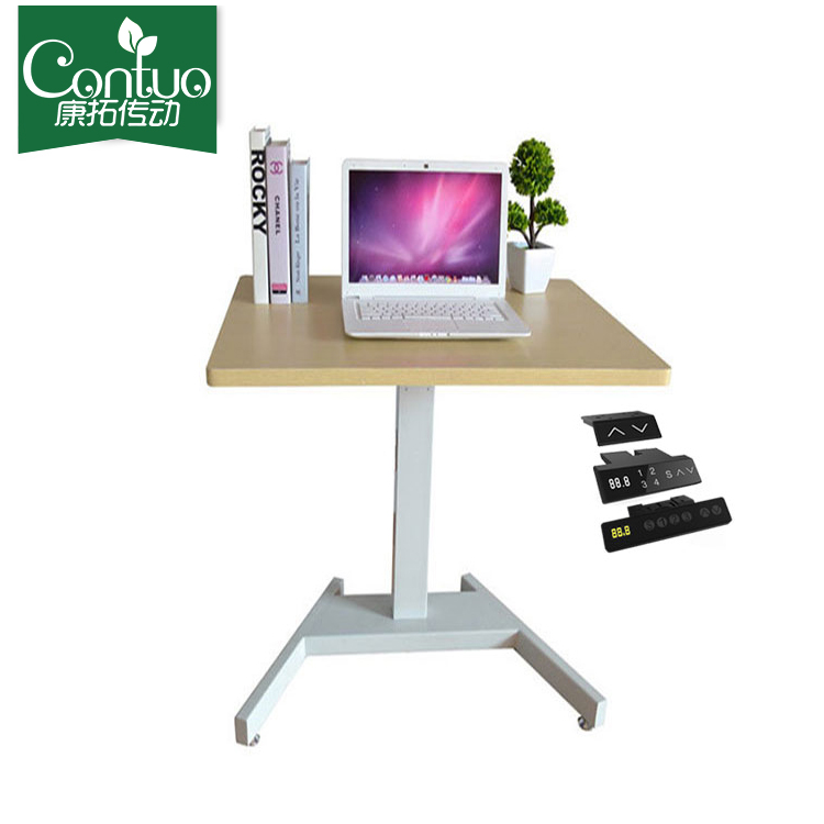 Moveable swivel Up-down adjustable lap desk for laptop