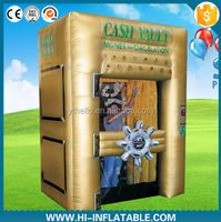 Customized promotional inflatable cash money grabbing machine game for advertisment
