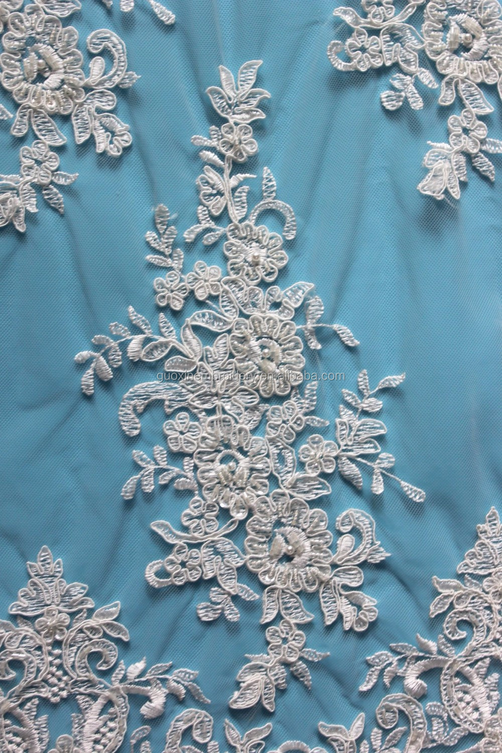 wholesale clothes turkey istanbul lace fabric embroidery lace fabric with beads